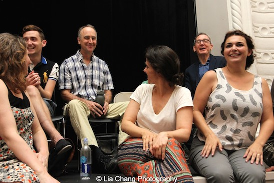 Jenny Green, Jonathan Stephens, Michael Countryman, Sophie Sorensen, Martin Casella and Zoe Watkins during the Q & A at the Sheen Center in New York on August 15, 2015. Photo by Lia Chang