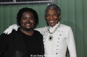 Reji Woods and André De Shields at The Wiz is 40 at Rumsey Playfield, Summerstage in New York on August 12, 2015. Photo by Lia Chang