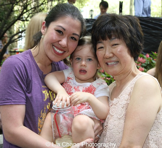 Tony winner Ruthie Ann Miles, her daughter, Abigail and her mother, Esther attend 106.7 LITE FM's Broadway In Bryant Park on August 13, 2015 in New York City. Photo by Lia Chang