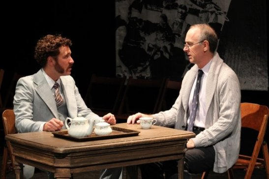 STUART WILLIAMS and MICHAEL COUNTRYMAN in THE REPORT.  Photo by Lia Chang
