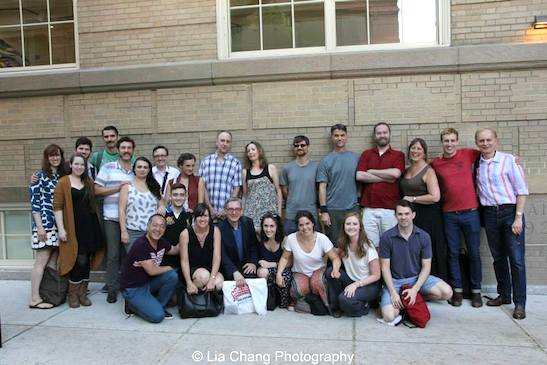The cast, creative team and producers of The Report after the opening performance of The Report at The Lynn Redgrave Theater at Culture Project in New York on August 15, 2015. Photo by Lia Chang