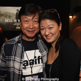 Tzi Ma and Jennifer Lim attend the AAIFF2015 screening of AMC's Hell on Wheels at Cinema Village East in New York on July 31, 2015. Both have appeared in plays by David Henry Hwang, Ma in The Dance and The Railroad, Lim in Chinglish. Photo by Lia Chang