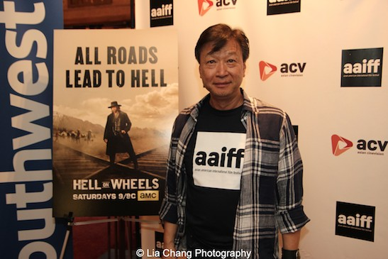 Actor Tzi Ma attends the AAIFF2015 screening of AMC's Hell on Wheels at Village East Cinema in New York on July 31, 2015. Photo by Lia Chang