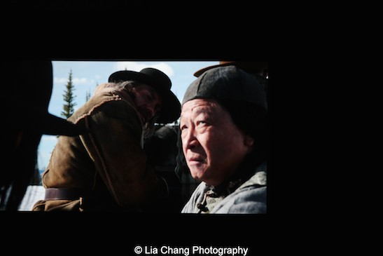 Anson Mount and Tzi Ma in AMC's Hell on Wheels. Photo by Lia Chang