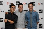 Wesley Chan, Philip Wang, Chris Dinh of Wong Fu Productions at the AAIFF 2015 screening of their debut feature film EVERYTHING BEFORE US at the Museum of the Moving Image in Astoria on August 1, 2015. Photo by Lia Chang