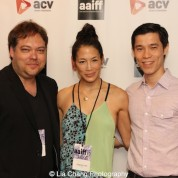 Dax Phelan, Eugenia Yuan and Jason Tobin attend the #AAIFF2015 screening of Jasmine at Village East Cinema in New York on July 30, 2015. Photo by Lia Chang