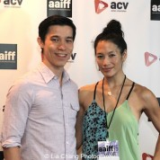 Jason Tobin and Eugenia Yuan attend the #AAIFF2015 screening of Jasmine at Village East Cinema in New York on July 30, 2015.