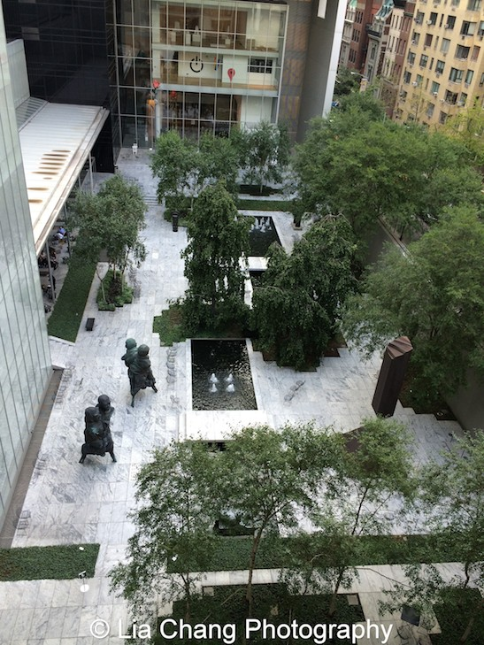 A view of the sculpture garden at Smithsonian Asian Pacific American Center's Edit-a-thon at Museum of Modern Art in New York on September 2, 2015. Photo by Lia Chang