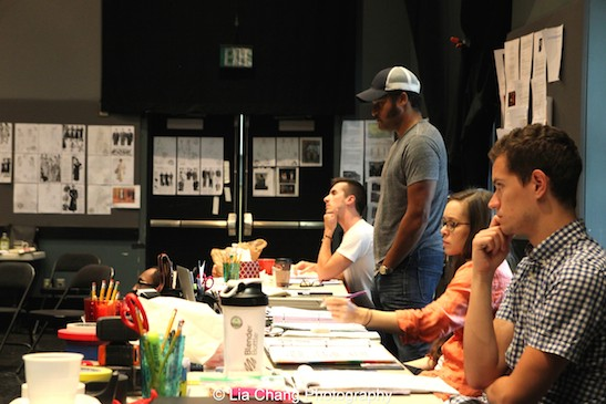 Director Brandon J. Dirden and his team in rehearsal for Two River Theater's production of August Wilson's Seven Guitars. Photo by Lia Chang