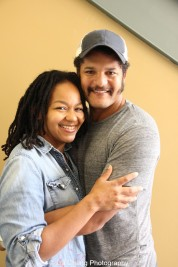 Crystal Dickinso-Dirden and her husband Brandon J. Dirden at Two River Theater in Red Bank, NJ. Photo by Lia Chang