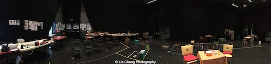 Two Rivers Theater rehearsal room for Seven Guitars. Photo by Lia Chang