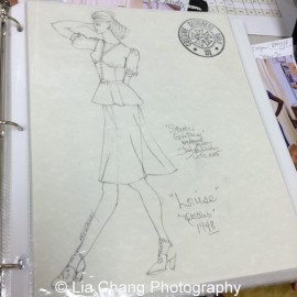 Costume sketch by Karen Perry for Two River Theater's production of Seven Guitars. Photo by Lia Chang