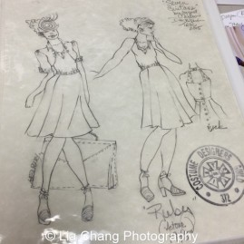 Costume sketches by Karen Perry for Two River Theater's production of Seven Guitars. Photo by Lia Chang