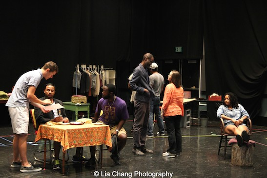 In rehearsal for Two River Theater's production of August Wilson's Seven Guitars. Photo by Lia Chang