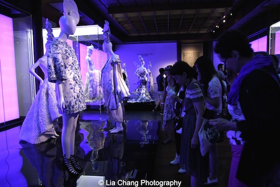 Haute couture ensembles on display in China: Through the Looking Glass at The Metropolitan Museum of Art on September 5, 2015. Photo by Lia Chang