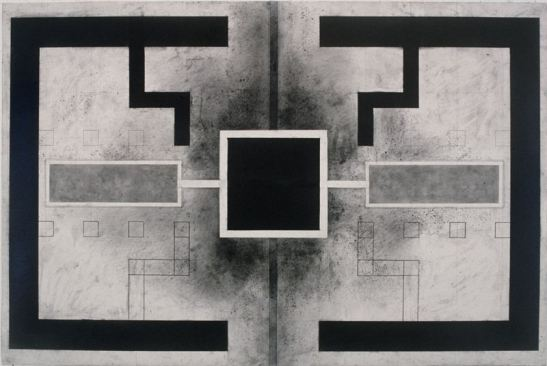 """Michelle Stuart Agdal I, 1982 Graphite, muslin-mounted rag paper 24 x 36"""" Courtesy of the artist and Leslie Tonkonow"""