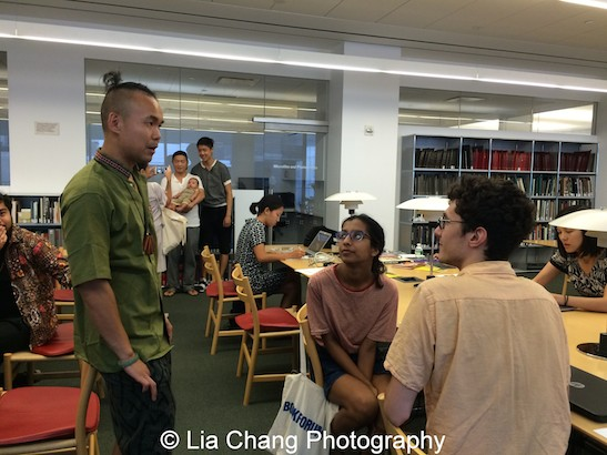 Adriel Luis, curator of Digital and Emerging Media for the Smithsonian Asian Pacific American Center speaks at Smithsonian Asian Pacific American Center's Edit-a-thon at Museum of Modern Art in New York on September 2, 2015. Photo by Lia Chang
