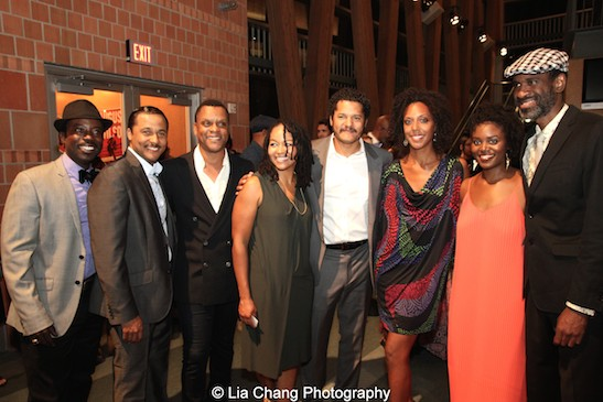 Charlie Hudson III, Jason Dirden, Kevin Mambo, Crystal Dickinson, Brandon J. Dirden, Christina Acosta Robinson, Brittany Bellizeare, Brian D. Coats. Photo by Lia Chang