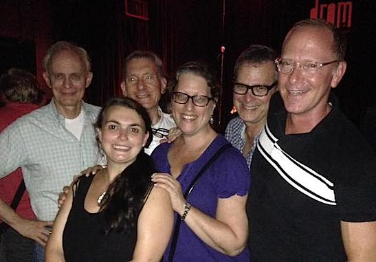 Craig Zehms, Zoë S Watkins, Martin Casella, Sarahbeth Grossman, Barry Goralnick and Keith Gordon at the 2015 FringeNYC Awards at Drom in New York on August 30, 2015. Photo courtesy of Barry Goralnick