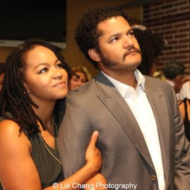 Crystal Dickinson with husband Brandon J. Dirden. Photo by Lia Chang