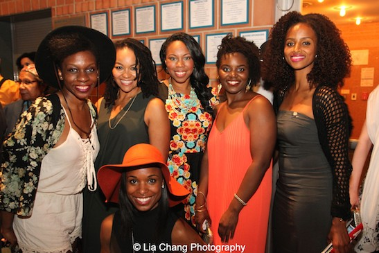Ayo Oneke Cummings, Crystal A. Dickinson, Kaliswa Brewster, Toccarra Cash, Brittany Bellizeare, Lakisha May. Photo by Lia Chang