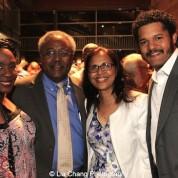 Elain Graham, Willie Dirden, Mrs. Dirden, Brandon J. Dirden. Photo by Lia Chang
