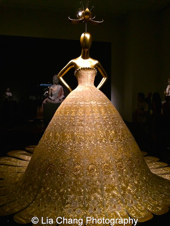 Guo Pei (Chinese, born 1967) Evening gown, spring/summer 2007 haute couture Gold lamé embroidered with gold and silver silk, metal, and sequins Courtesy of Guo Pei Photo by Lia Chang