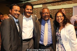 Jason Dirden, Brandon J. Dirden, Willie Dirden and Mrs. Dirden. Photo by Lia Chang