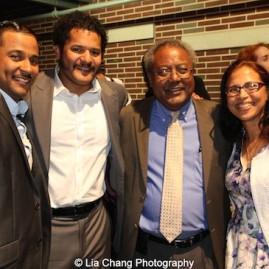 Jason Dirden, Brandon J. Dirden, Willie Dirden and Mrs. Dirden. Photo by Lia Chang
