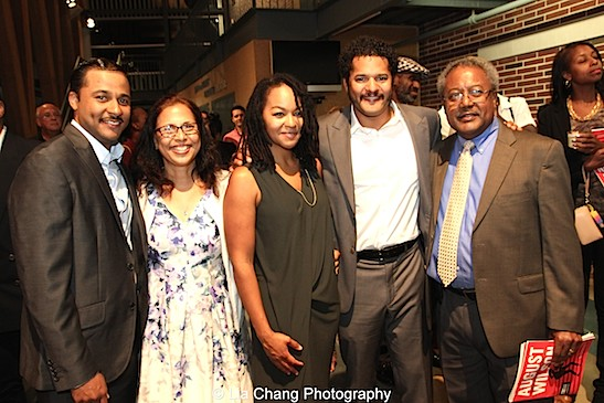 Jason Dirden, Mrs. Dirden, Crystal A. Dickinson, Brandon J. Dirden, Willie Dirden. Photo by Lia Chang