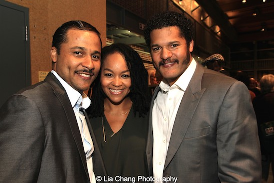 Jason Dirden, Crystal Dickinson, Brandon J. Dirden. Photo by Lia Chang