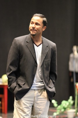 Jason Dirden in rehearsal for Two River Theater's production of August Wilson's Seven Guitars. Photo by Lia Chang