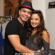 Jose Llana and Ashley Park backstage at the Vivian Beaumont Theater after The Actors Fund Special Performance of The King and I on September 20, 2015. Photo by Lia Chang