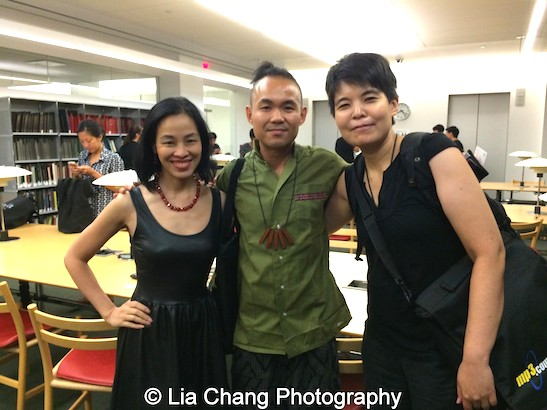 Lia Chang, Adriel Luis and Ann Matsuuchi attend the Smithsonian Asian Pacific American Center's Edit-a-thon at Museum of Modern Art in New York on September 2, 2015. Photo by Lia Chang