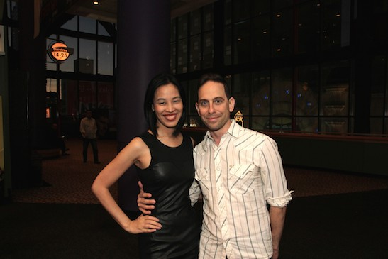 The producing team of Bev's Girl Films - Best Actress nominee Lia Chang and Garth Kravits for their debut short film, Hide and Seek (Top Ten Film for 72 Hour Shootout)