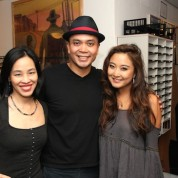 Lia Chang, Jose Llana and Ashley Park backstage at the Vivian Beaumont Theater after The Actors Fund Special Performance of The King and I on September 20, 2015.