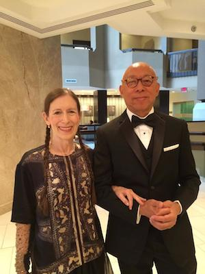 Meredith Monk and Ping Chong at the National Medal of Arts and Humanities Gala, hosted by the President's Committee on the Arts & Humanities at the United States Institute of Peace in Washington DC on September 9, 2015. Photo by Bruce Allardice