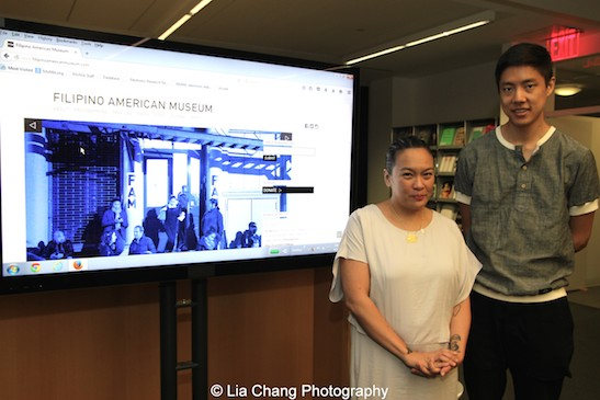 FAM co-founder, Nancy A. Bulalacao-Leung and Ryan Wong at the Smithsonian Asian Pacific American Center's Edit-a-thon at Museum of Modern Art in New York on September 2, 2015. Photo by Lia Chang