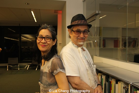 Artists Nina Kuo and Lorin Roser attend Smithsonian Asian Pacific American Center's Edit-a-thon at Museum of Modern Art in New York on September 2, 2015. Photo by Lia Chang