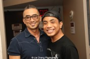 Paul Nakauchi and Jon Viktor Corpuz backstage at the Vivian Beaumont Theater after The Actors Fund Special Performance of The King and I on September 20, 2015. Photo by Lia Chang
