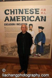 Ping Chong at the opening reception of Chinese American: Exclusion/Inclusion at the New-York Historical Society in New York on September 23, 2014. Photo by Lia Chang