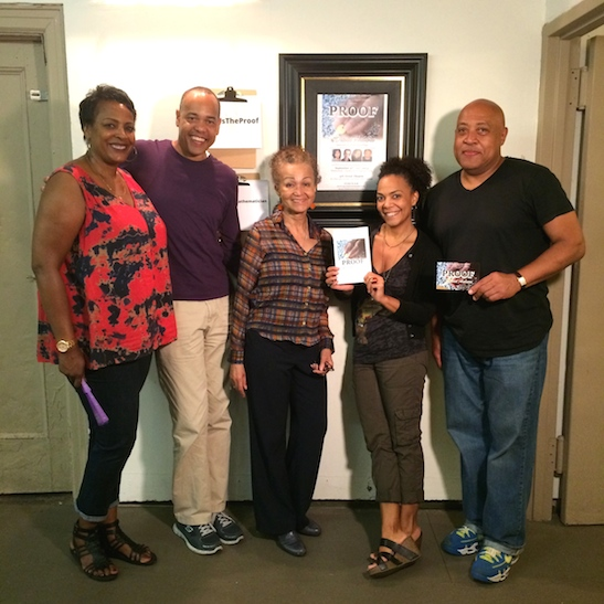 Quick Silver Theater Company members Inga Ballard, Tyrone Mitchell Henderson, Rachel Leslie and Keith Randolph Smith. Photo by Lia Chang