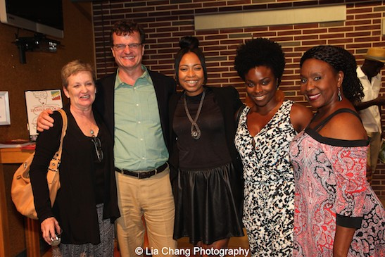 Terria Joseph, Michael Cumptsy, Nikiya Mathis, Stacey Sergeant and Elain Graham. Photo by Lia Chang