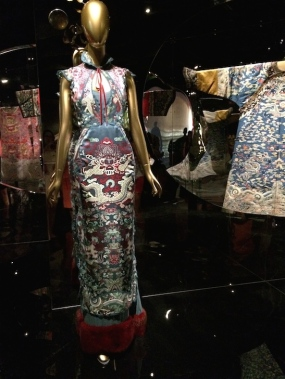 Tom Ford for Yves Saint Laurent evening gown in China: Through the Looking Glass at The Metropolitan Museum of Art. Photo by Lia Chang