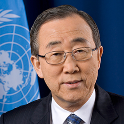 H.E. Mr. Ban Ki-moon, Secretary-General of the United Nations
