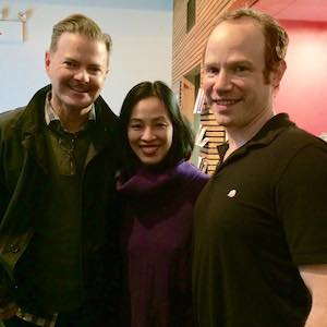 Clarke Thorell, Lia Chang and Sean Dugan. Photo by Garth Kravits