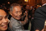 George Takei signs autographs at the Longacre Theatre stage door in New York after the first preview of ALLEGIANCE on October 6, 2015. Photo by Lia Chang