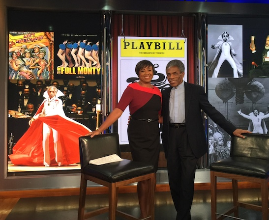 NBC's Janice Huff and André De Shields at the News 4 New York Studios in New York on November 23, 2015. Photo by Merle Frimark