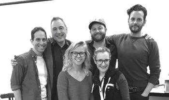 Garth Kravits, Kevin Pariseau, Whitney Bashor, Maggie Lakis, Brandon Ellis, Wayne Wilcox. Photo by Joanna Muhlfelder