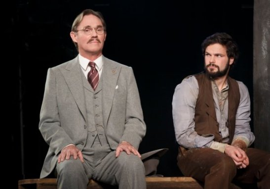 Signature Theatre presents Incident at Vichy by Arthur Miller, directed by Michael Wilson. Pictured: Richard Thomas as Von Berg and Jonny Orsini as Lebeau. Photo by Joan Marcus